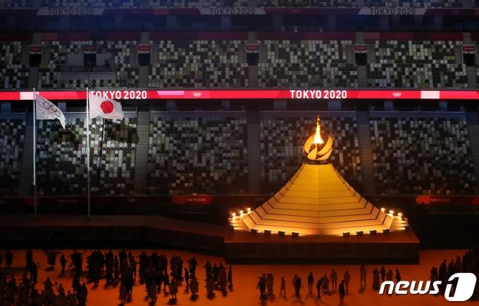 [사진] 성화 점등된 도쿄올림픽