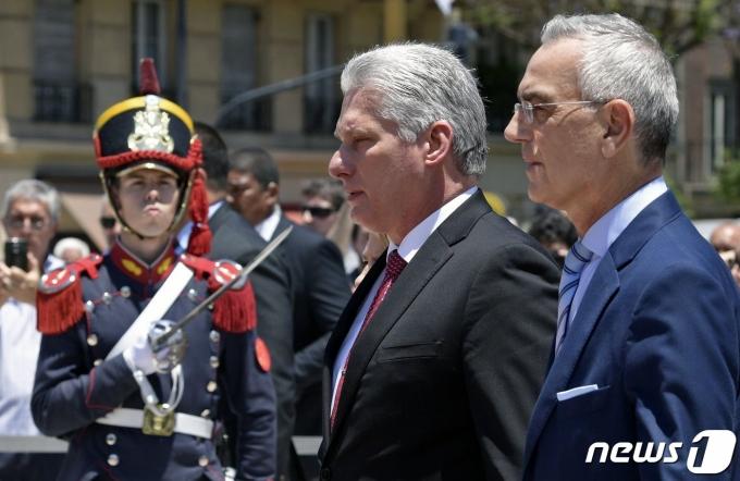 ARGENTINA-CUBA-DIAZ-CANEL © AFP=뉴스1