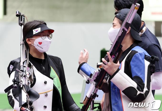 [사진] 권은진·박희문 '그래도 잘했다'
