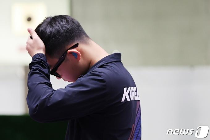 [사진] 김모세 '아쉬운 결과'