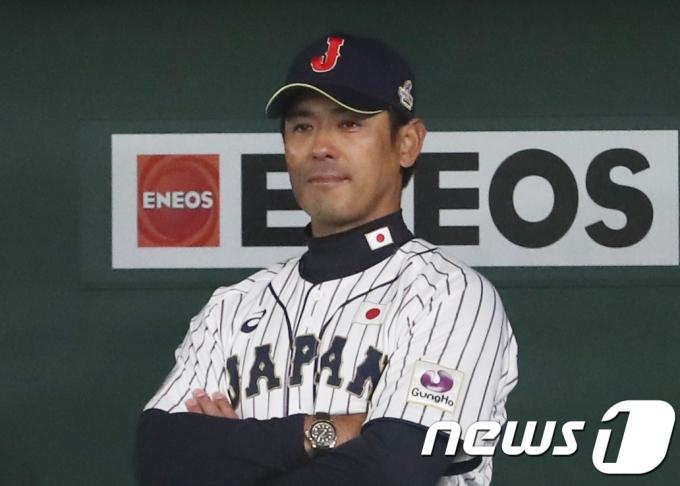일본 야구대표팀의 이나바 아쓰노리 감독. 2017.11.19/뉴스1 © News1 황기선 기자