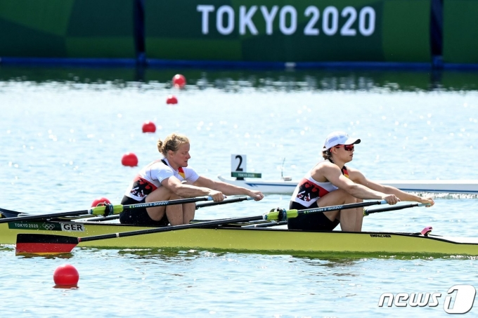 조정 경기가 열리는 도쿄 우미노모리 수상경기장 © AFP=뉴스1