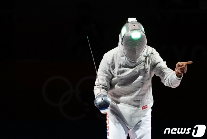[사진] 김정환 '비디오 판독 요청'