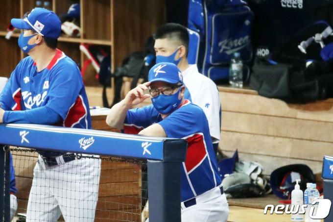 도쿄 올림픽 야구 대표팀의 김경문 감독. /뉴스1 © News1 조태형 기자