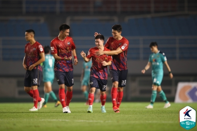 김천이 안산을 1-0으로 눌렀다. (한국프로축구연맹 제공)