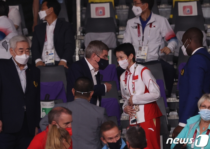 [사진] 태권도 찾은 토마스 바흐 IOC 위원장