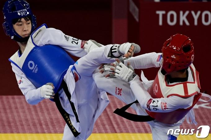 장준 도쿄 올림픽 16강전 © AFP=뉴스1 © News1 조재현 기자