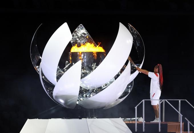 코로나 확산세가 심긱한 도쿄올림픽에 태풍 우려까지 더해졌다. 사진은 이틀 전 열린 도쿄올림픽 개막식 모습. /사진=뉴시스(공동취재사진)