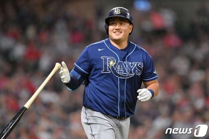 최지만이 시즌 6호 홈런을 기록했다. © AFP=뉴스1