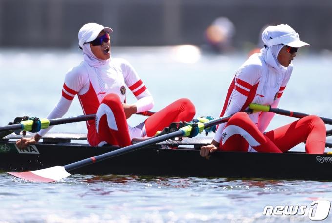 8호 태풍 네파탁 영향으로 도쿄올림픽 조직위가 조정 경기를 앞당겼다. © 로이터=뉴스1 © News1 정윤영 기자
