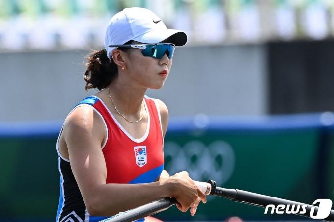 여자 조정 국가대표 정혜정. © AFP=뉴스1