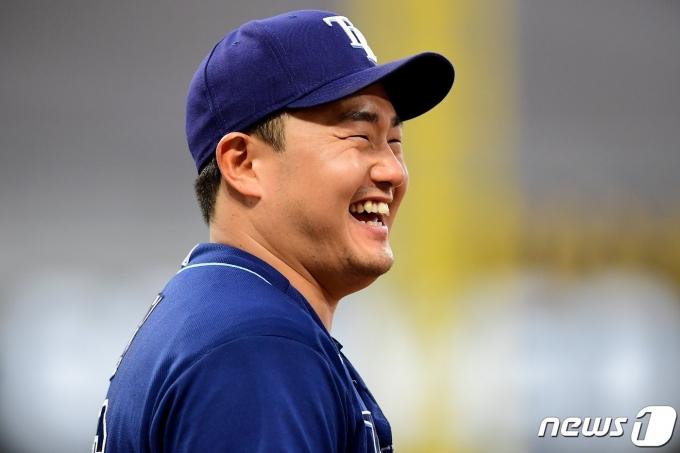 최지만이 시즌 2번째 4안타 경기를 펼쳤다. © AFP=뉴스1