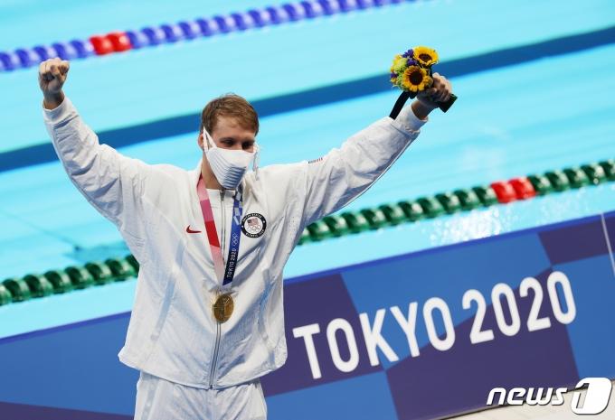 [사진] 체이스 케일리시 '美 첫 메달의 주인공'