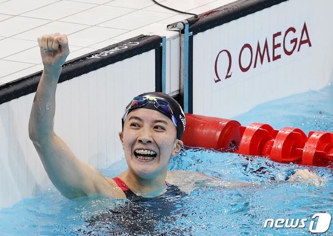 [사진] 일본 오하시 유이 '금메달의 기쁨'