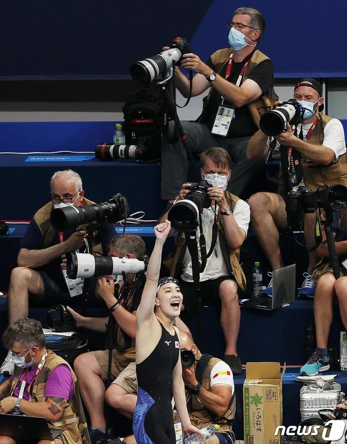 [사진] 일본 여자 400m 혼영 금메달의 주인공