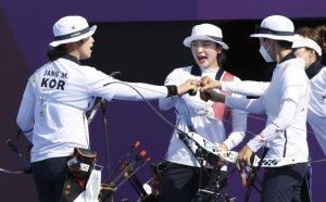 [속보] 여자 양궁 단체전 금메달… 사상 최초 '올림픽 9연패' 달성