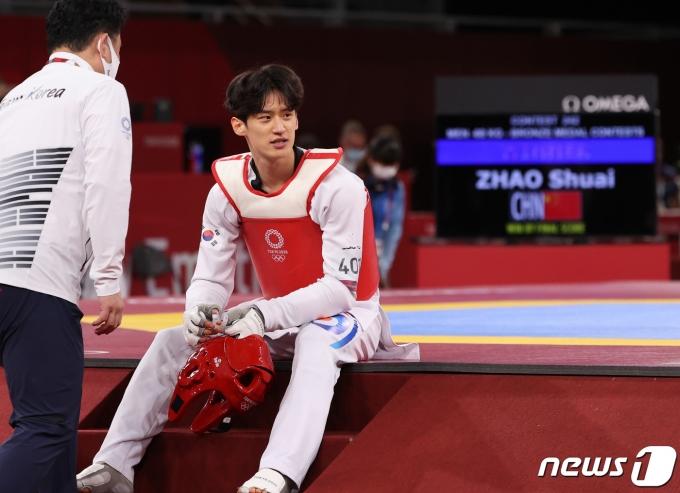 [사진] 아쉬워 하는 이대훈 '동메달 좌절'