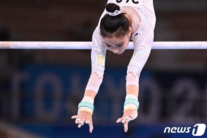 한국 기계체조 여자 대표 이윤서.© AFP=뉴스1