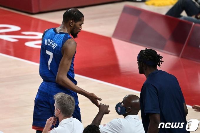 미국 농구 대표팀의 케빈 듀란트. © AFP=뉴스1