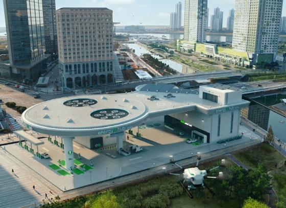 GS칼텍스가 CES 2021에 출품하는 동영상 '주유소 미래 모습'. /사진=GS칼텍스