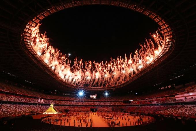 MBC가 도쿄올림픽 남자 축구 중계 도중 또 다시 자막 논란을 일으켰다. 사진은 지난 23일 열린 도쿄올림픽 개막식 모습. /사진=뉴시스(공동취재사진)
