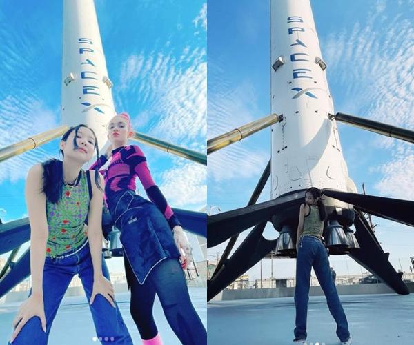 블랙핑크 제니가 일론 머스크의 아내인 그라임스가 함께 찍은 사진을 공개했다. /사진=인스타그램 캡처