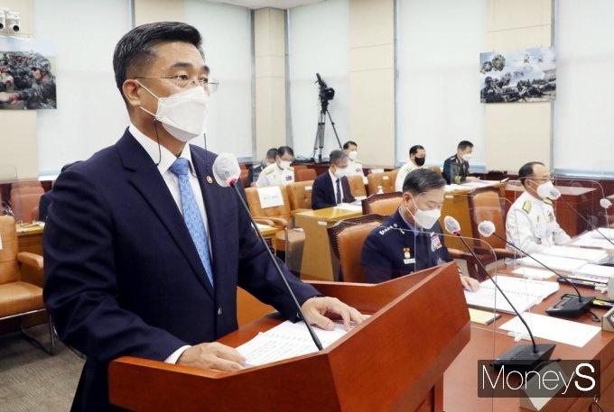 """[머니S포토] 서욱 장관 """"청해부대 장병 백신 접종에 관심·노력 부족"""""""