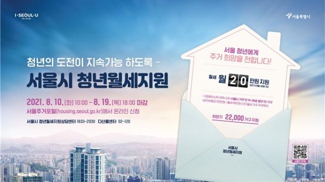서울시는 '청년 월세' 제도의 소득 기준을 당초 중위소득 120% 이하에서 150% 이하로 완화한다. /사진제공=서울시