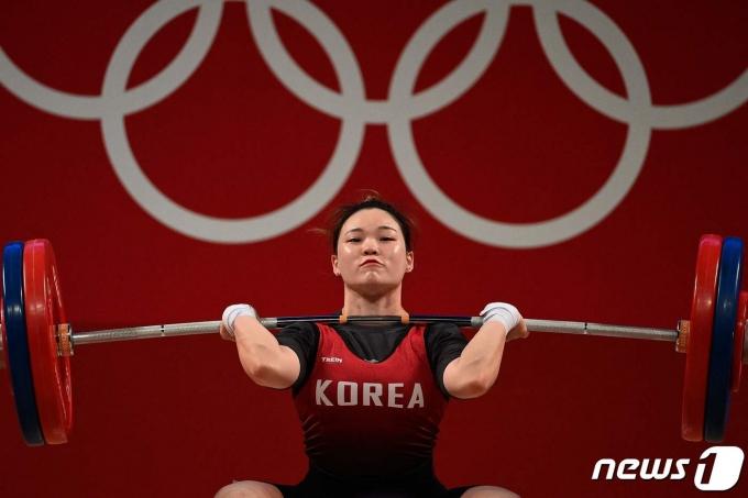 한국 역도 여자 국가대표 함은지. © AFP=뉴스1
