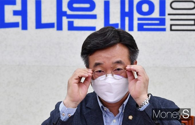 """[머니S포토] 與 윤호중 """"정부와 함께 생활물류법 현장 안착되도록 점검"""""""
