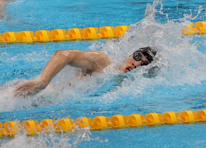 황선우가 27일 오전 일본 도쿄 아쿠아틱스 센터에서 2020도쿄올림픽 남자 자유형 200m 결승에 . /사진=뉴스1