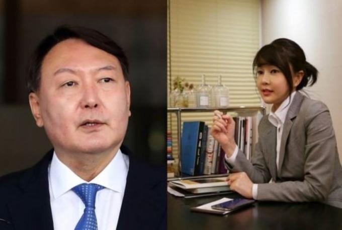 윤석열 전 검찰총장과 부인 김건희씨© 뉴스1