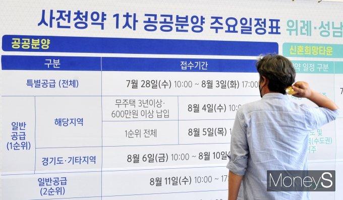 [머니S포토] '3기 신도시 사전청약 일정 확인'