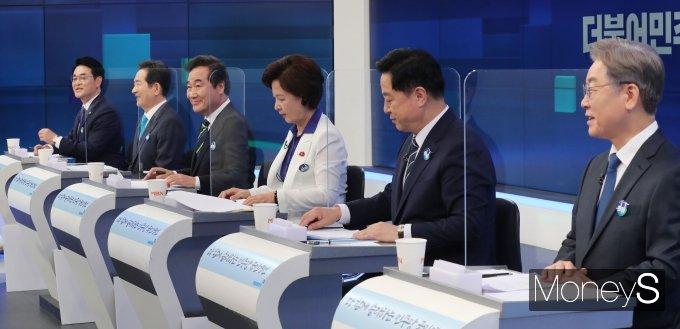 [머니S포토] TV토론회 준비하는 민주당 대선 예비 후보들