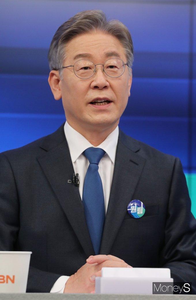 [머니S포토] 이재명 'TV토론회 준비 완료'