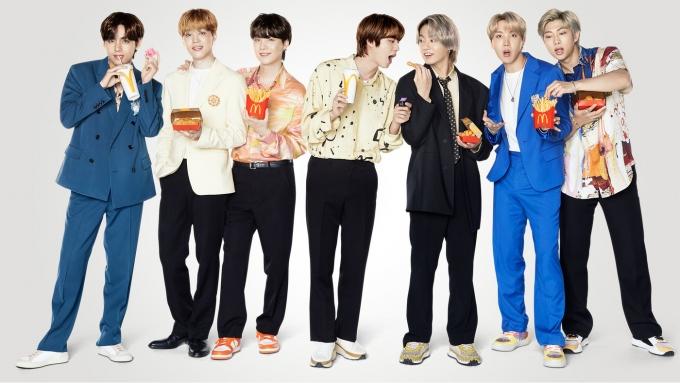 The BTS 세트(한국맥도날드 제공)© 뉴스1