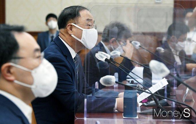 """[머니S포토] 홍남기 """"반도체·미래차·비이오헬스 등 BIG3 산업 집중 육성"""""""