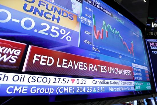 미국 중앙은행인 연방준비제도(Fed·연준)가 기준금리를 제로 수준으로 동결했다./사진=로이터