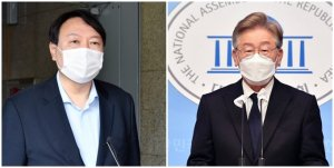 차기 대선주자 지지도, 윤석열 40.7% vs 이재명 38%