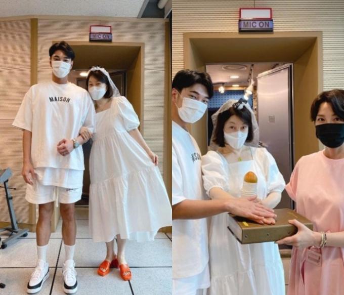 최화정과 이민웅의 다정한 모습이 화제가 되고 있다./사진=이민웅 인스타그램 캡처