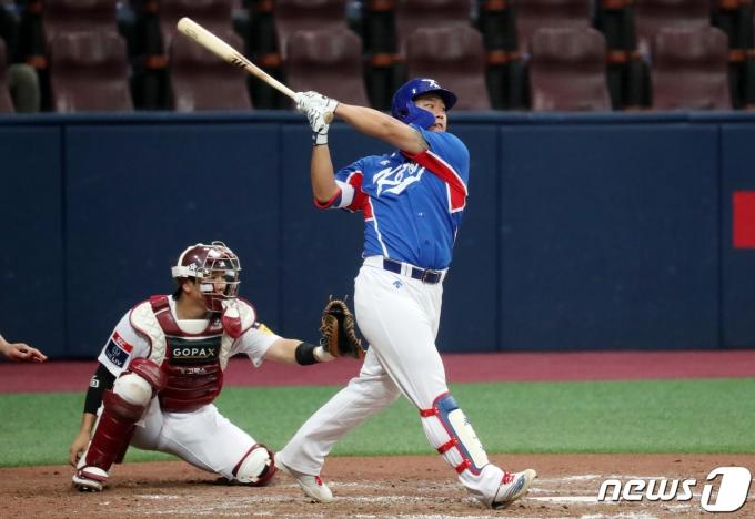 2020 도쿄 올림픽 야구 국가대표팀 강백호. 2021.7.25/뉴스1 © News1 김명섭 기자