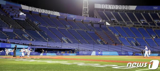 [사진] 도쿄올림픽 야구경기 '무관중 운영'