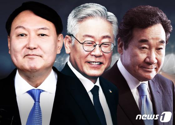 윤석열 전 검찰총장, 이재명 경기도지사, 이낙연 전 더불어민주당 대표. © News1 DB