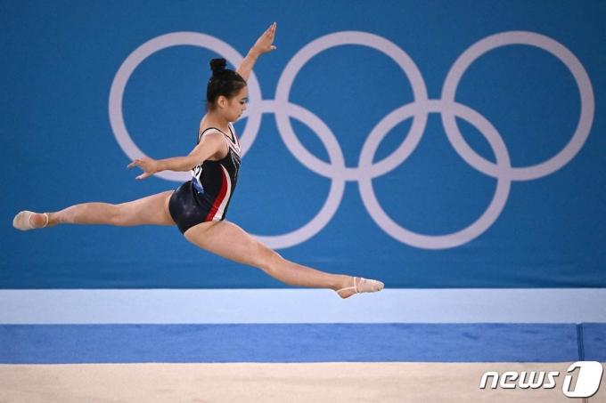 이윤서는 2020 도쿄 올림픽 여자 기계체조 개인종합 결선에서 21위에 올랐다. © AFP=뉴스1