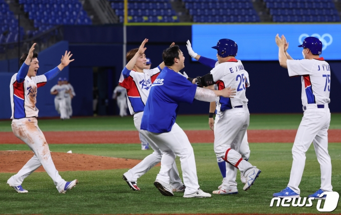 [사진] 야구대표팀 '좋다 좋아'