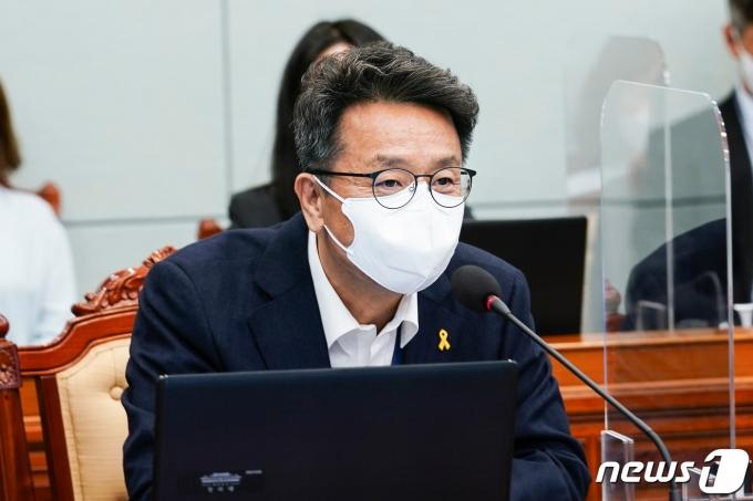 이철희 청와대 정무수석. 2021.4.19/뉴스1 © News1 유승관 기자