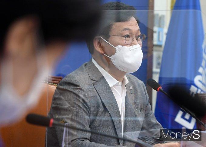 [머니S포토] 모두발언하는 송영길 민주당 대표