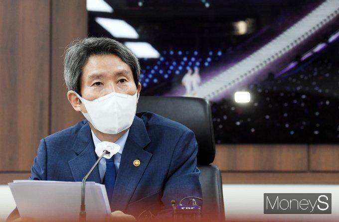 [머니S포토] 통일부 기자단 간담회, 이인영 장관의 발언