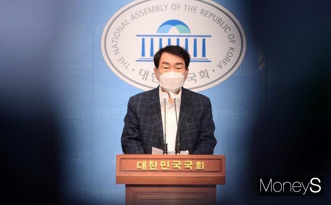 [머니S포토] 기자회견하는 안상수 전 인천시장