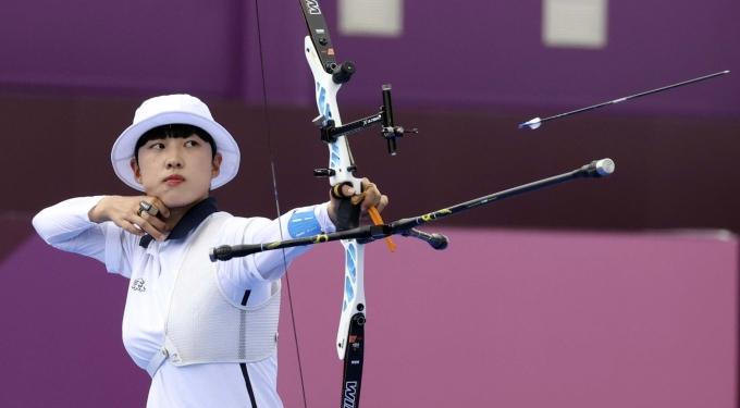 안산이 도쿄올림픽 여자 양궁 개인전에서 금메달을 땄다. /사진=뉴시스